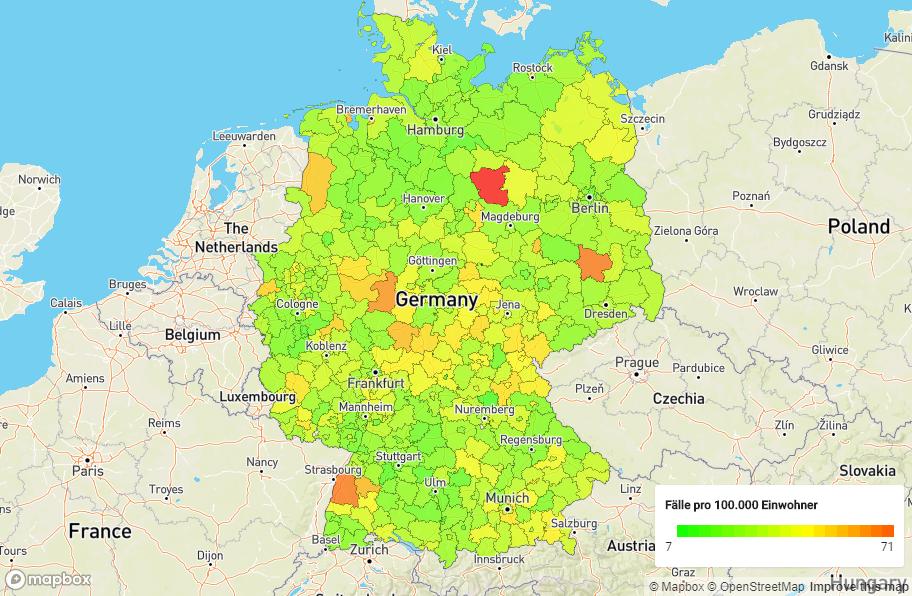 geographische Einordnung ausgewählter DRG-Ziffern